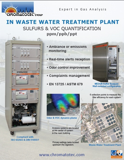 Sulfurs & VOC quantification in Waste Water Treatment Plants