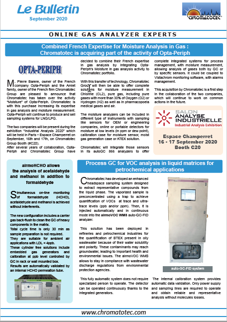 New Chromatotec Bulletin is out !